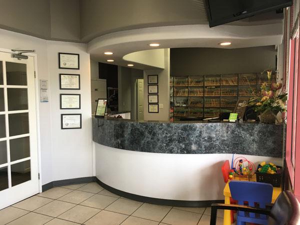 Front Desk Area to Check in | Avalon Dental in Carson, CA Location