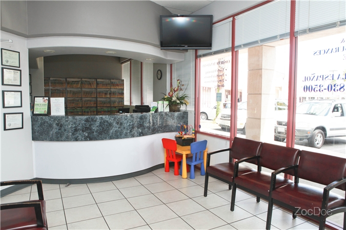 The waiting area looking at the front desk | Avalon Dental in Carson, CA Location
