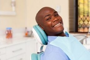 Man in Dental Chair Smiling | Avalon Dental, your Carson and El Segundo Dentist